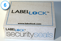Label Lock label on box 6