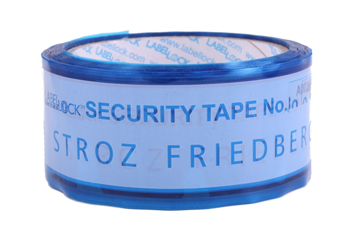 custom security tape with surface text