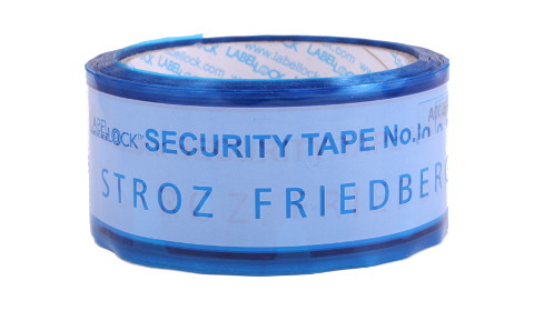 Label Lock custom security tape